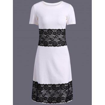 Color Block Lace Spliced Pencil Dress