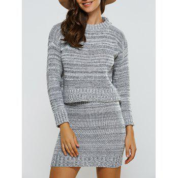 Ribbed Sweater   Skinny Knitted Skirt Twinset