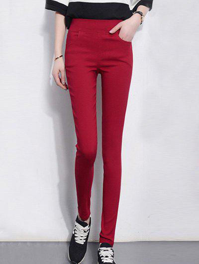 Pocket Pantalon design Skinny Crayon - Rouge M