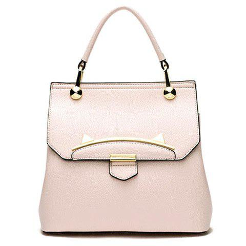 Trendy Metal and Cat Ears Design Women's Totes - PINK