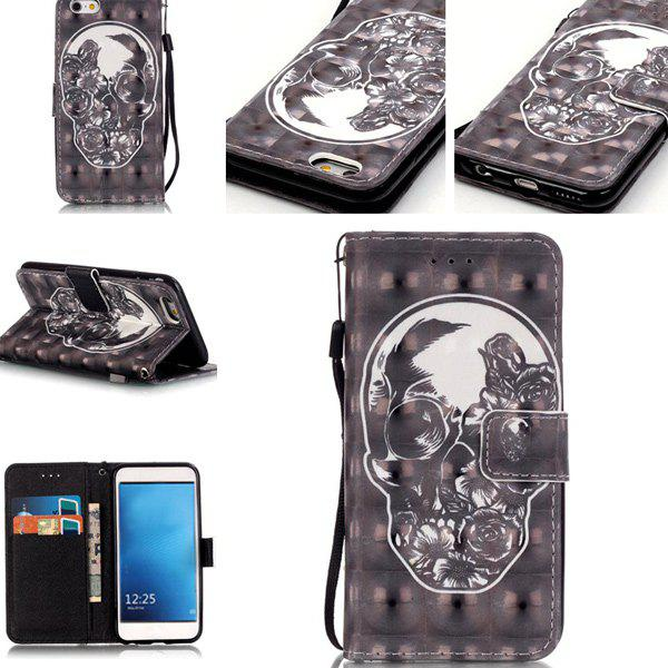 Skull Pattern Phone Case For iPhone 7 - BLACK