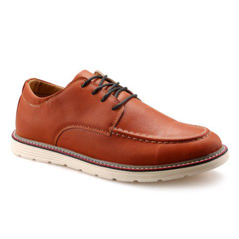 Vintage Lace-Up Stitching Casual Shoes - BROWN 43