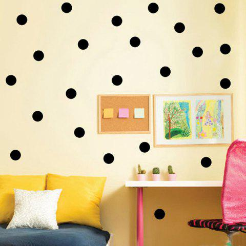 Art 10CM Width Polka Dot Pattern Room Wall Sticker - BLACK