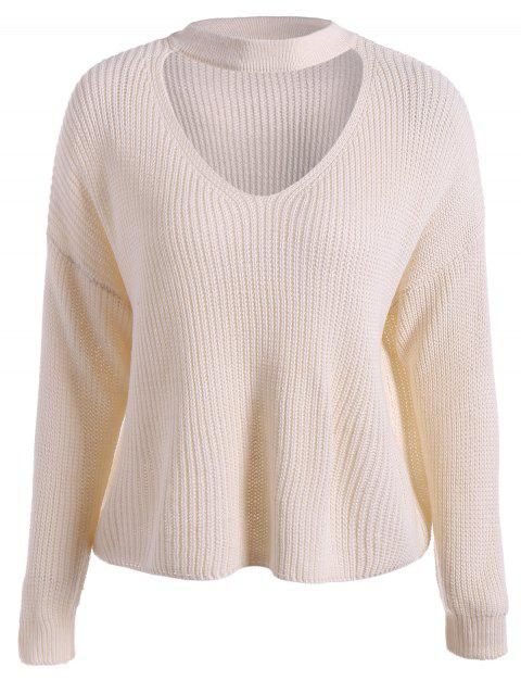 Loose Chunky Sweater - APRICOT ONE SIZE