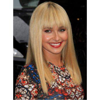 Long Full Bang Straight Bright-Coloured Synthetic Wig