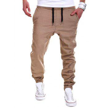 Drawstring Drop Crotch Jogger Pants