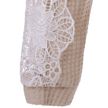 Dentelle Patchwork Sweater - Abricot Clair M