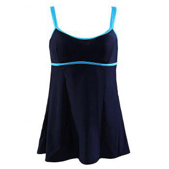 Charming Double Straps Spliced Color Block Women's Swimwear - PURPLISH BLUE 3XL
