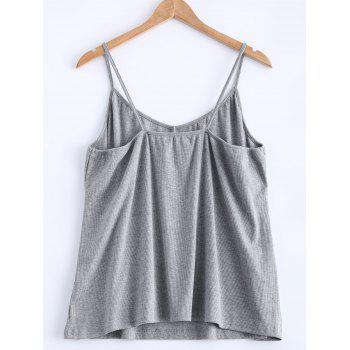 Open Back Stretchy Ribbed Tank Top - 3XL 3XL