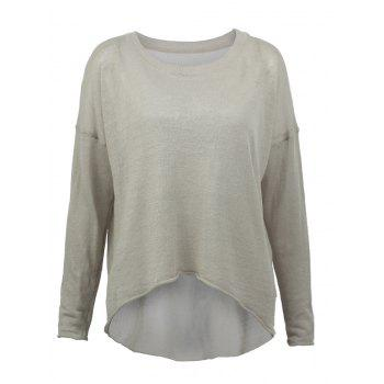 Long Sleeves High Low Knitted Pullover