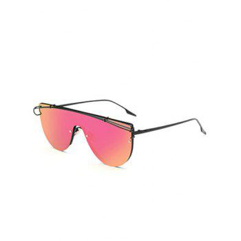 Joy-Ride Cross-Bar Mirrored Sheild Sunglasses