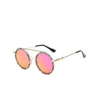 Joy-Ride Cross-Bar Marble Round Sunglasses