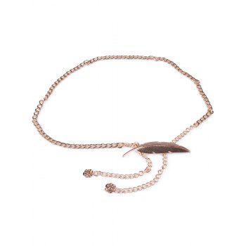 Personality Feather Metal Waist Chain