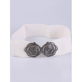 Personality Roses Elastic Wide Belt