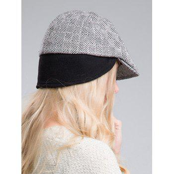 Outdoor Casual Quadrate Plaid Ivy Hat - BLACK