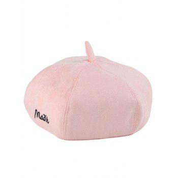 Casual Embroidery Faux Suede Painter Beret
