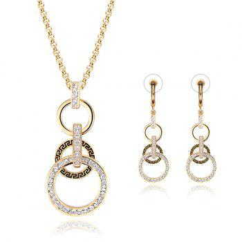 A Suit of Hollow Out Round Necklace and Earrings
