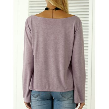 Boat Neck Flare Sleeves T-Shirt - S S