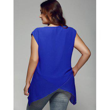 Plus Size Asymmetrical Chiffon Blouse - 4XL 4XL