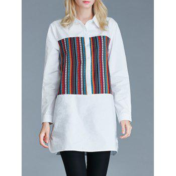 Furcal Ethnic Pattern Loose-Fitting Buttoned Shirt