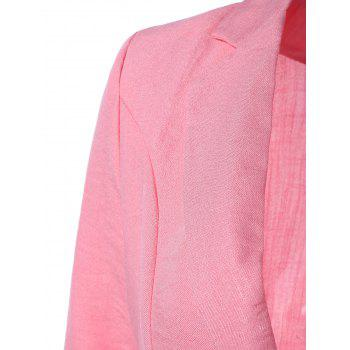 Lapel One Button Slimming Plaine Blazer - ROSE PÂLE L