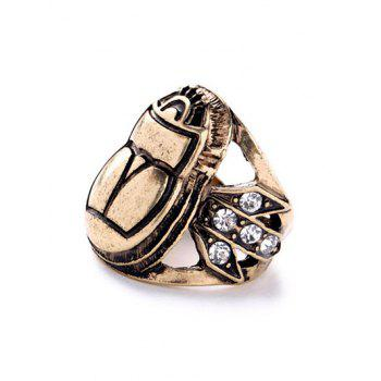 Embossed Insect Rhinestone Ring