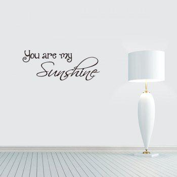 Home Decoration You Are My Sunshine Proverb Wall Sticker