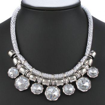 Rhinestone Round Fake Collar Necklace