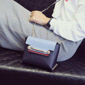 Chains Metal Trimmed Color Block Crossbody Bag