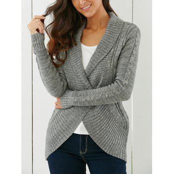 Shawl Collar One Button  Cardigan