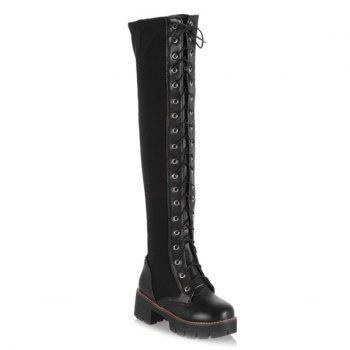 Criss Cross Tie Up Boots