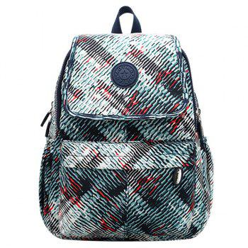 Colour Splicing Zippers Nylon Backpack