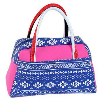 Canvas Ethnic Print Tote Bag