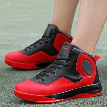 High Top Color Block Chaussures - Rouge 41