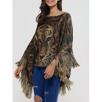 Fringed Oversized Asymmetric Cape