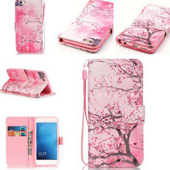 Wallet Design Cherry Tree Pattern Phone Case For iPhone 6S - PINK PINK