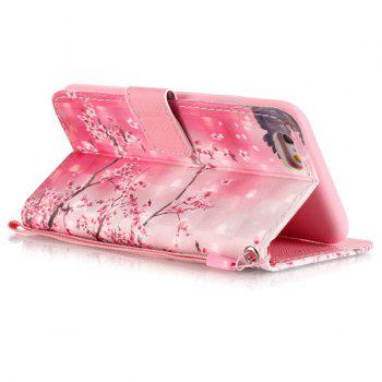 Wallet Design Cherry Tree Pattern Phone Case For iPhone 6S -  PINK
