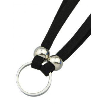 Punk Style Faux Leather Round Choker - SILVER