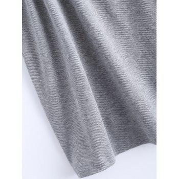 Open Back Stretchy Ribbed Tank Top - GRAY 2XL