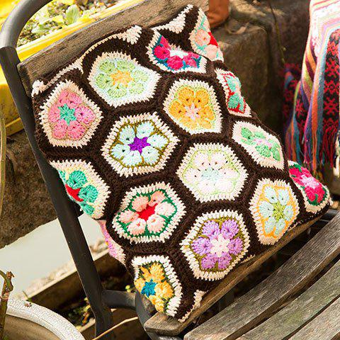 Ethnic Style Knitted Comfortable Hexagon Pillow Case starfish beach style pillow case