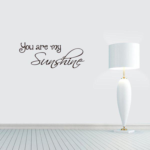 Home Decoration You Are My Sunshine Proverb Wall Sticker you are here