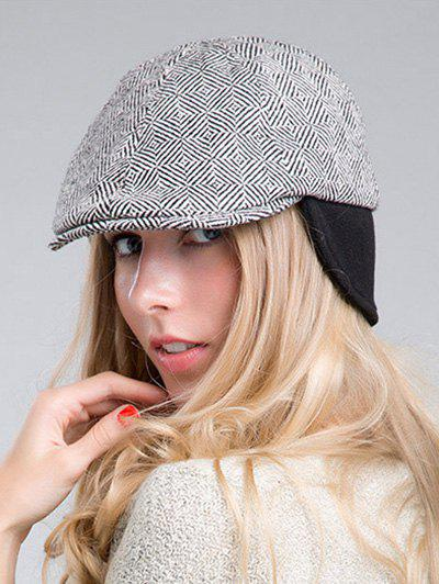Outdoor Casual Quadrate Plaid Ivy Hat, Black