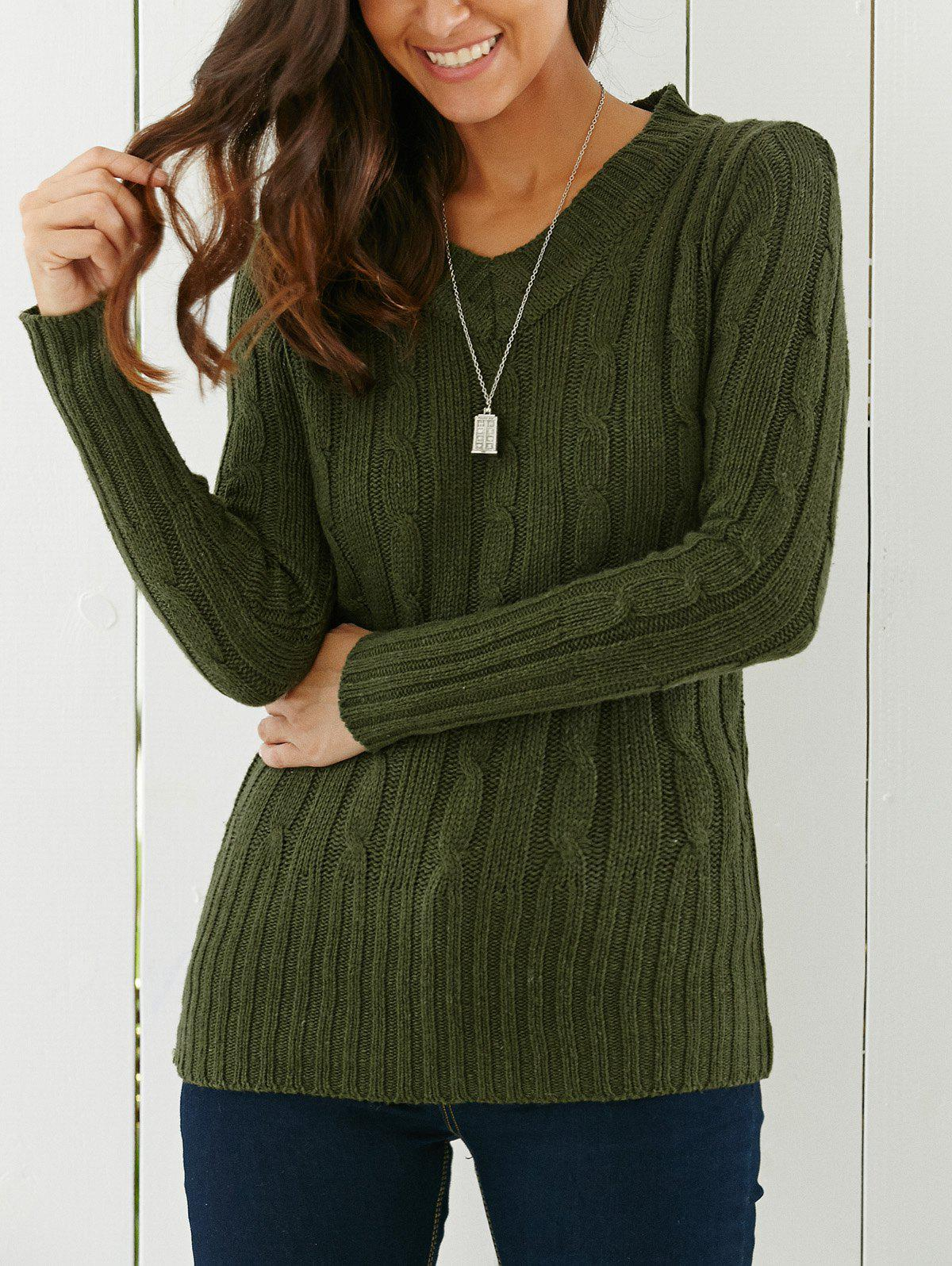 V Neck Cable Knit Longline Sweater cable knit high neck sweater cardigan