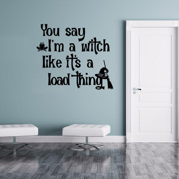 Halloween Proverb Letter Home Decoration Wall Sticker   BLACK Part 93