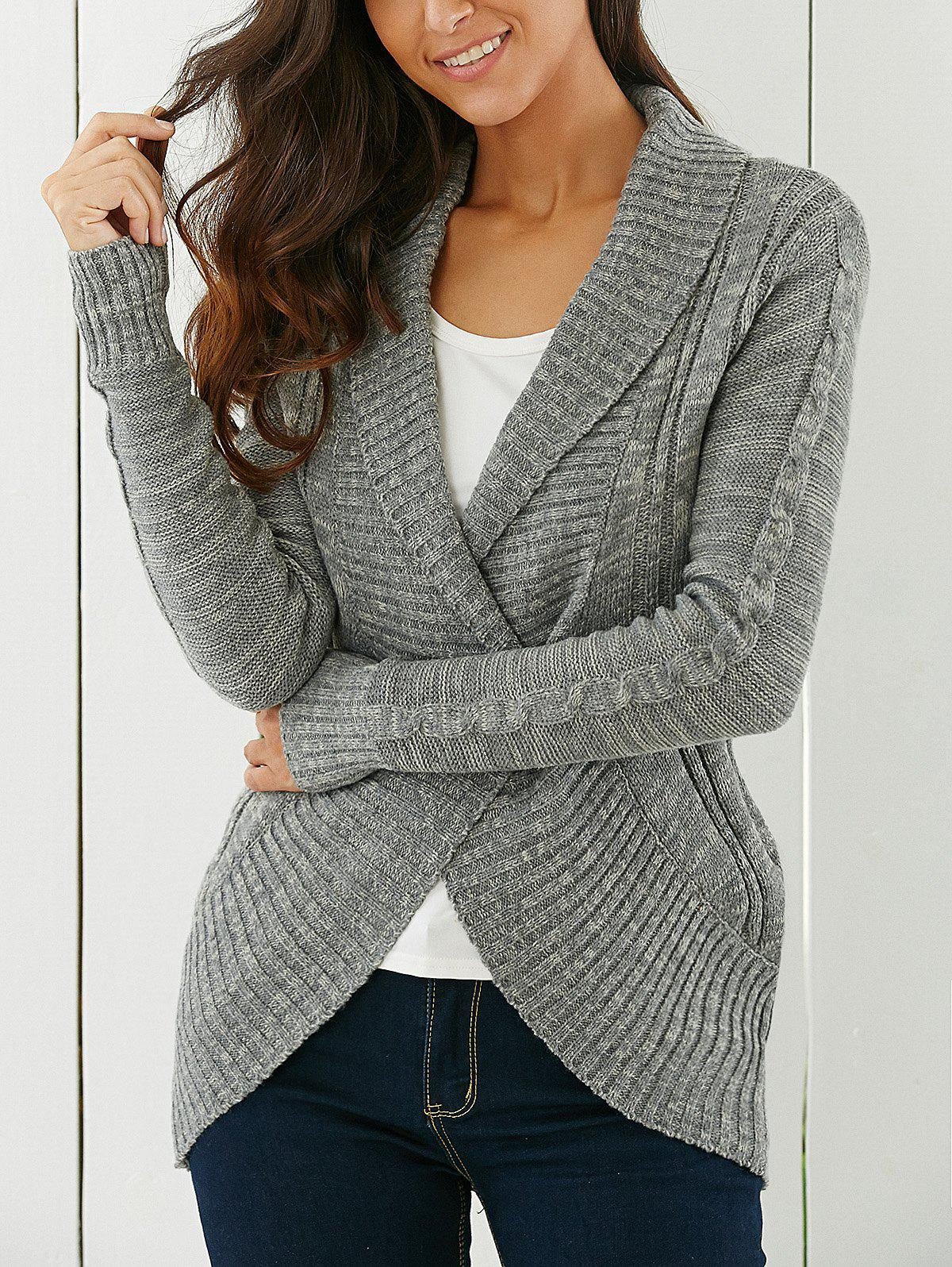 Shawl Collar Sweater. No matter how cold the day, a sweater is always a stylish way to stay warm. A shawl collar sweater in thick cable knit, paired with a simple pair of women's pants means staying warm and looking bestkapper.tk from a knee-length sweater coat with a shawl collar or a .