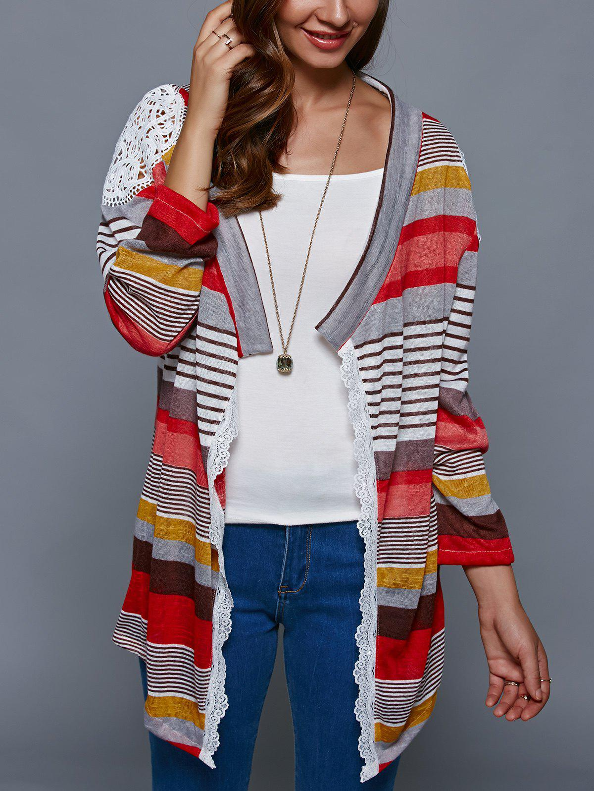 2017 Colorful Print Thin Cardigan COLORMIX S In Sweaters ...
