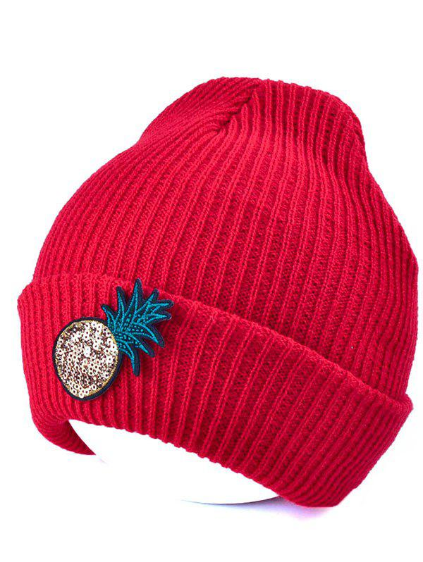 Outdoor Pineapple Shape Sequins Knitted Beanie outdoor pineapple shape sequins knitted beanie