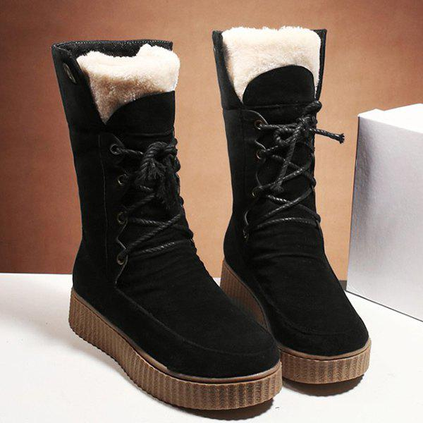 Round Toe Suede Mid Calf Boots wiley mark s cpa examination review set 97
