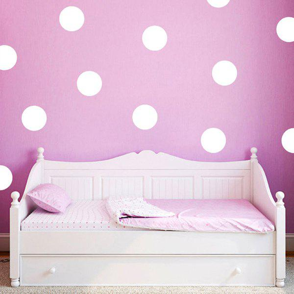 Art 4CM Width Polka Dot Pattern Room Wall Sticker - WHITE