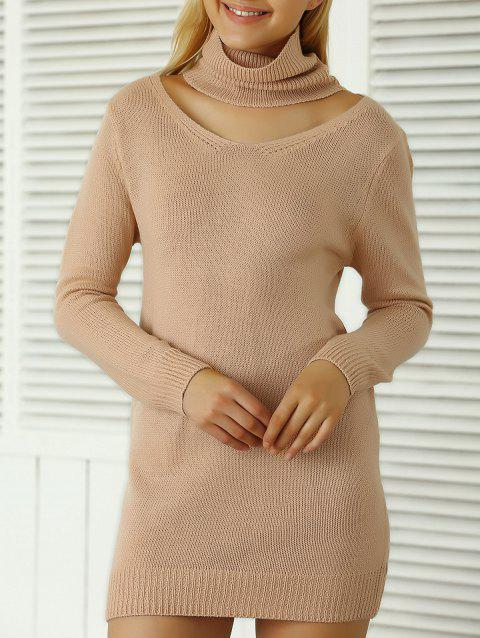 Côtelé uni Sweater Dress - Rose ONE SIZE